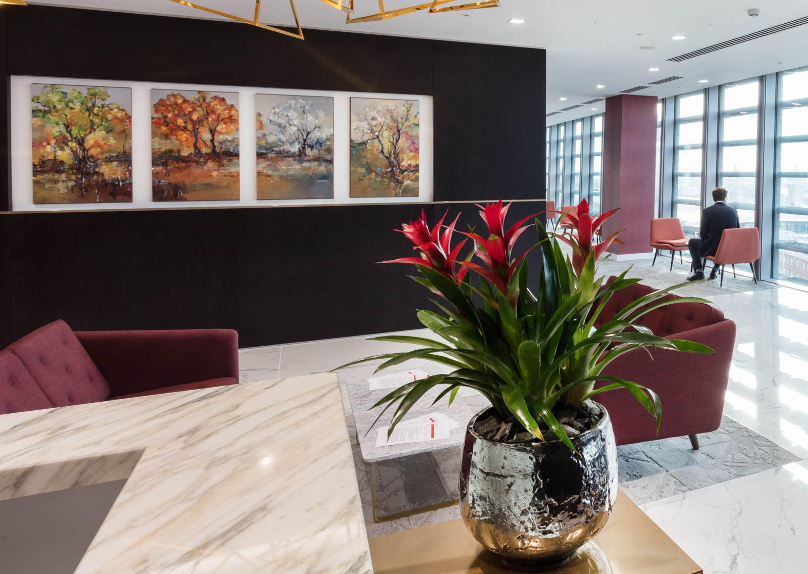 King & Wood Mallesons reception design