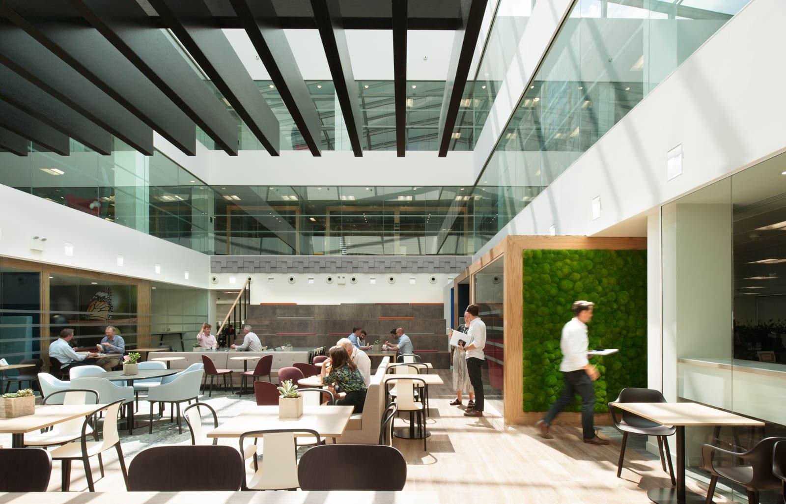 Lane4 atrium breakout space design