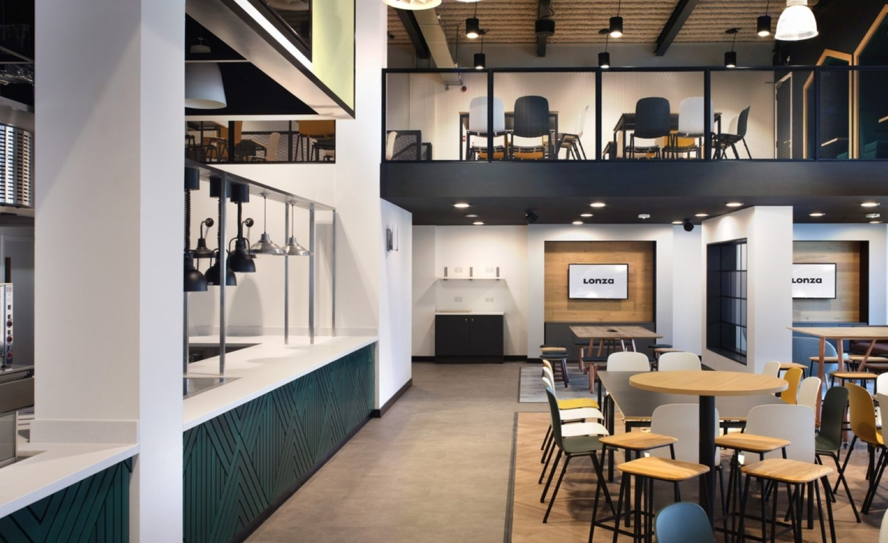 Lonza staff restaurant design and fit out