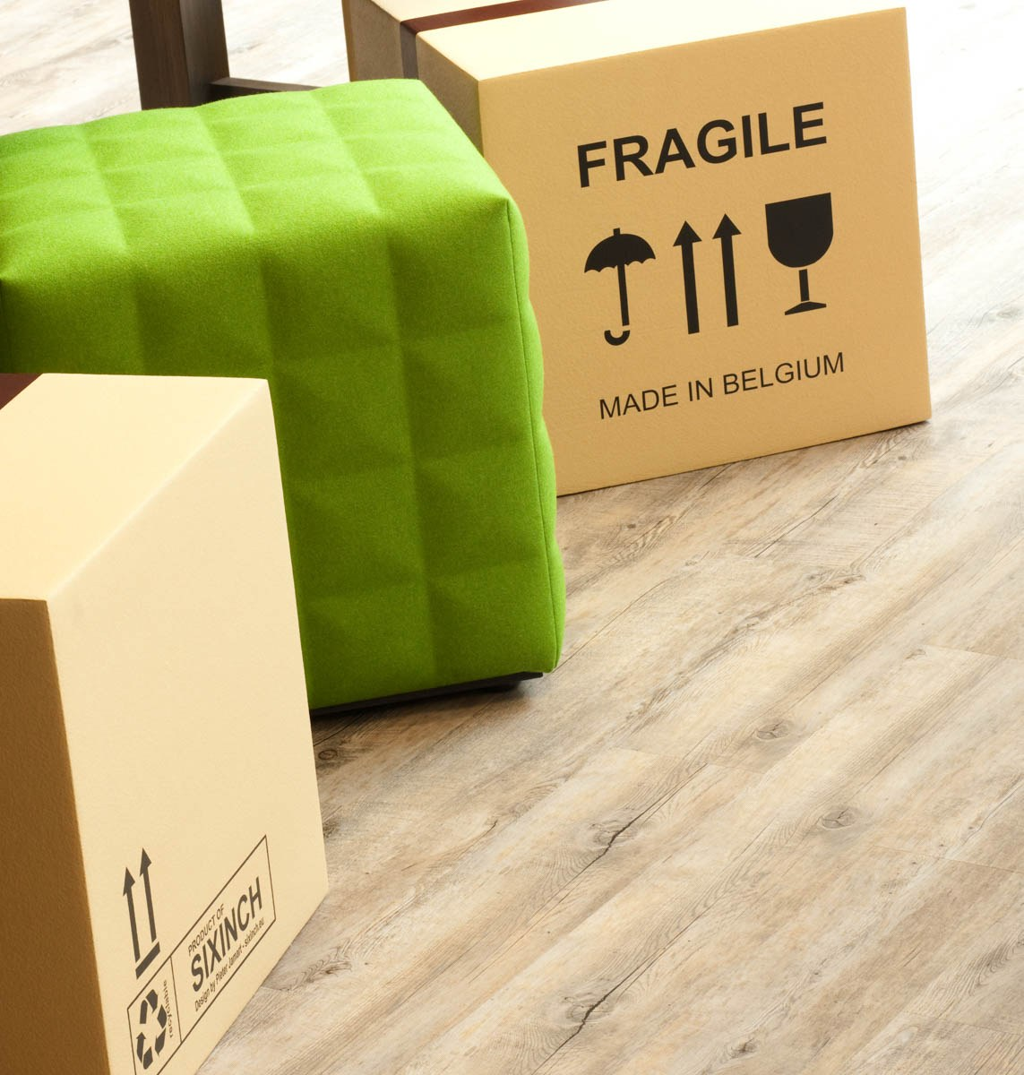 Manhattan Associates box stools in comunal area