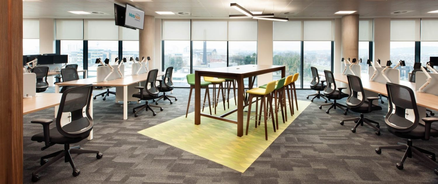 MotoNovo open plan office fit out