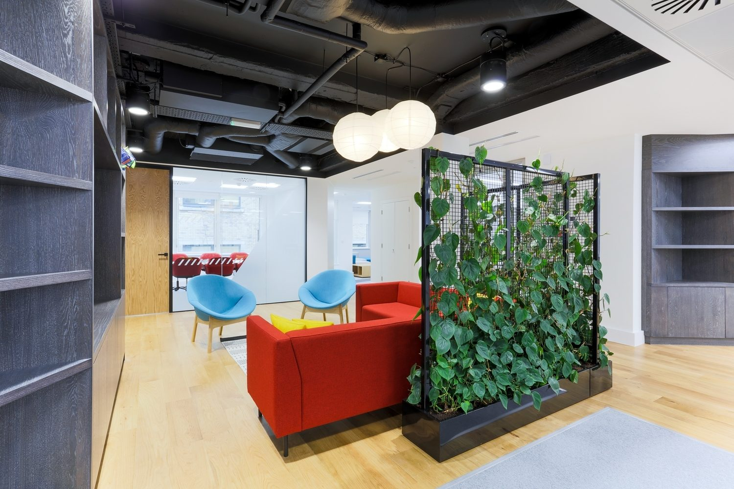 MRI Software office design ideas with living wall