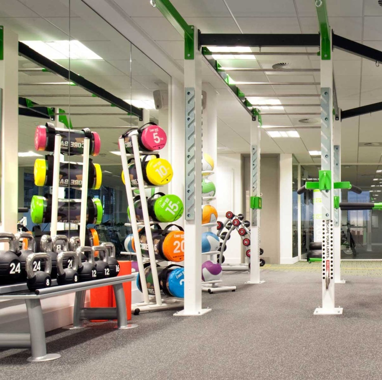Nuffield office gym for staff wellbeing