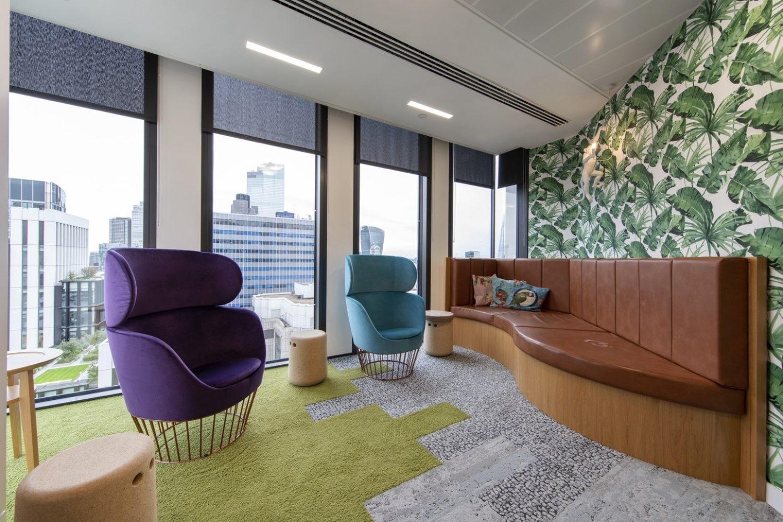 R3 london office breakout space design