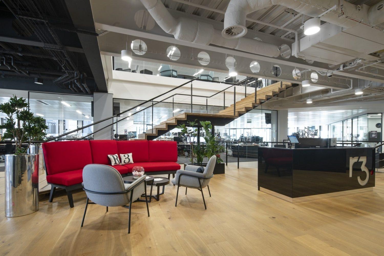 R3 London open plan office design
