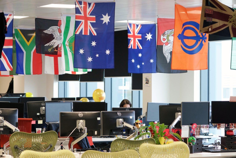 rackspace inclusive open plan office ideas