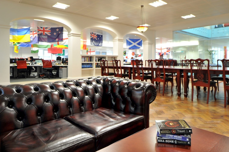 Rackspace office furniture design ideas chesterfied sofa