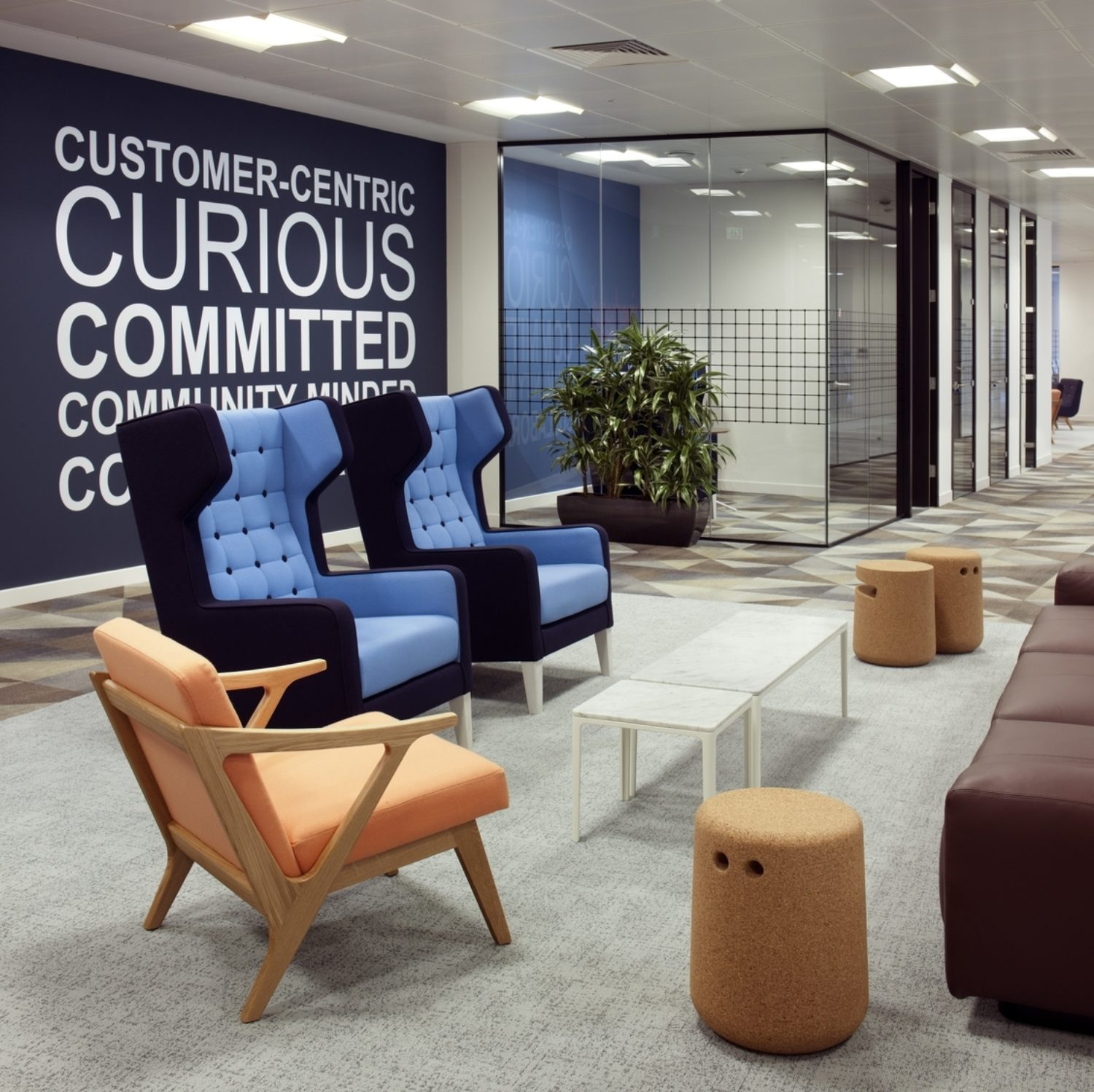 Riverbed office breakout space design