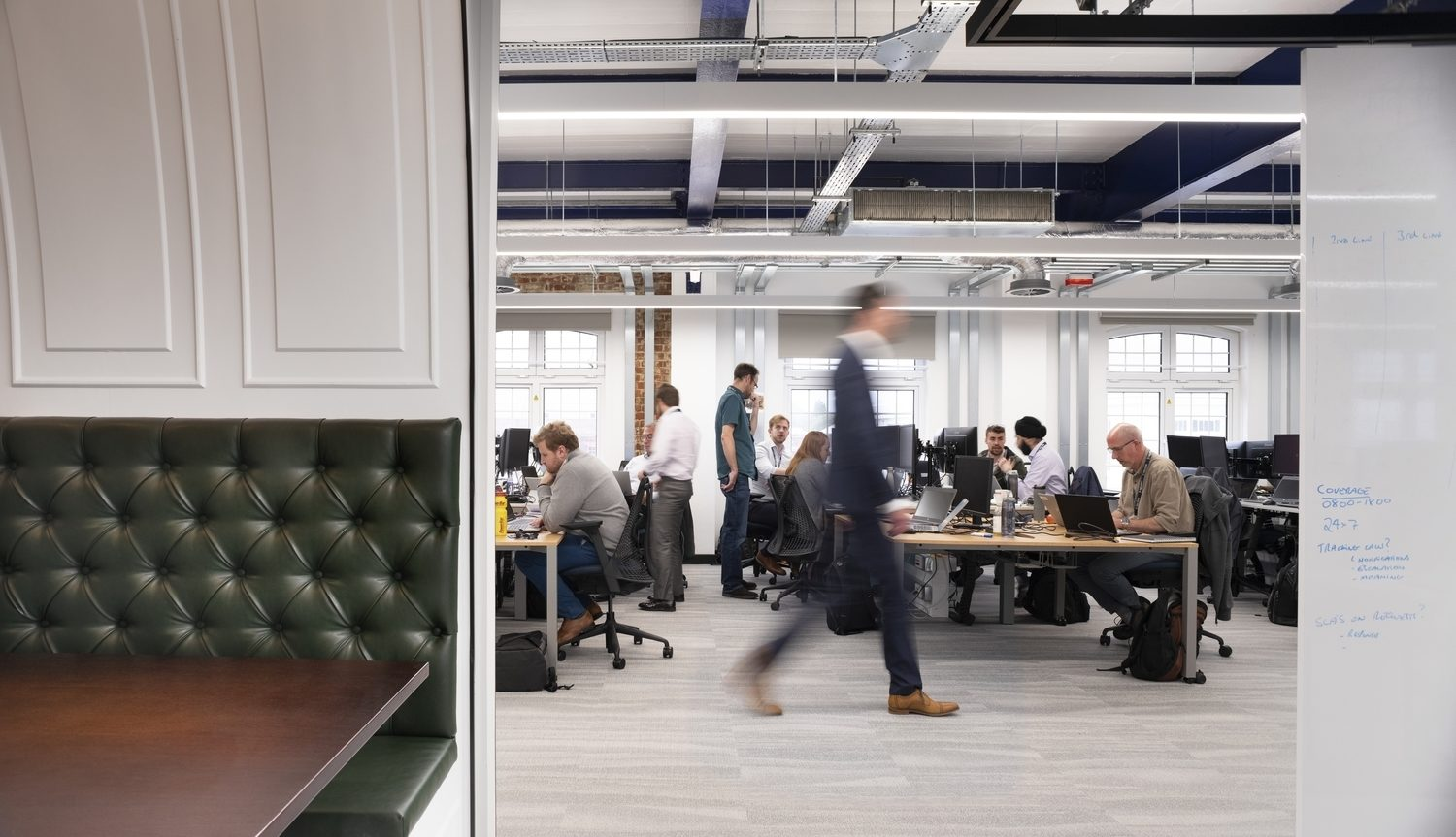 Busy office refurbished by Morgan Lovell