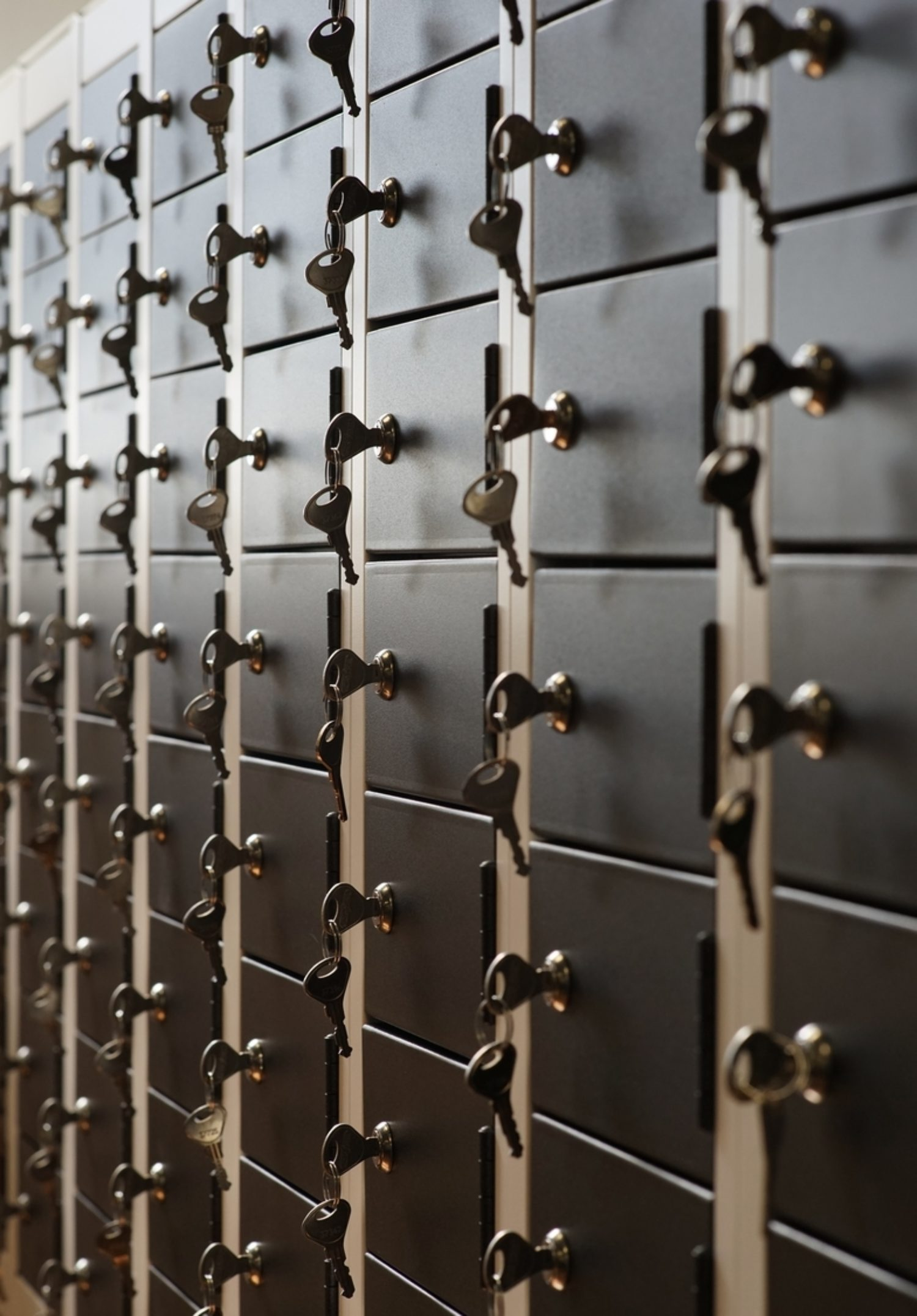 Royal Navy keys and lockers in secure office design