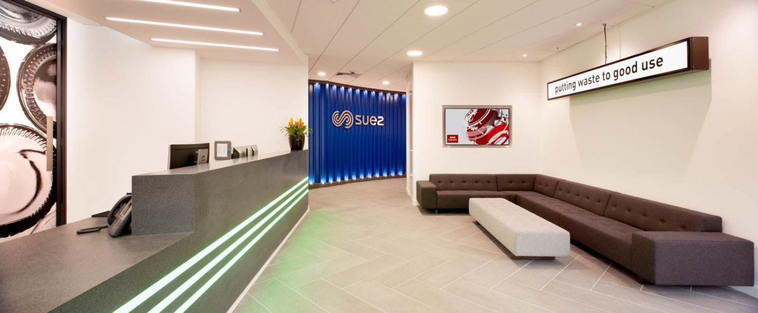 Suez biophilic designed reception