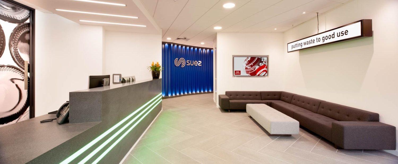 Suez biophilic designed reception