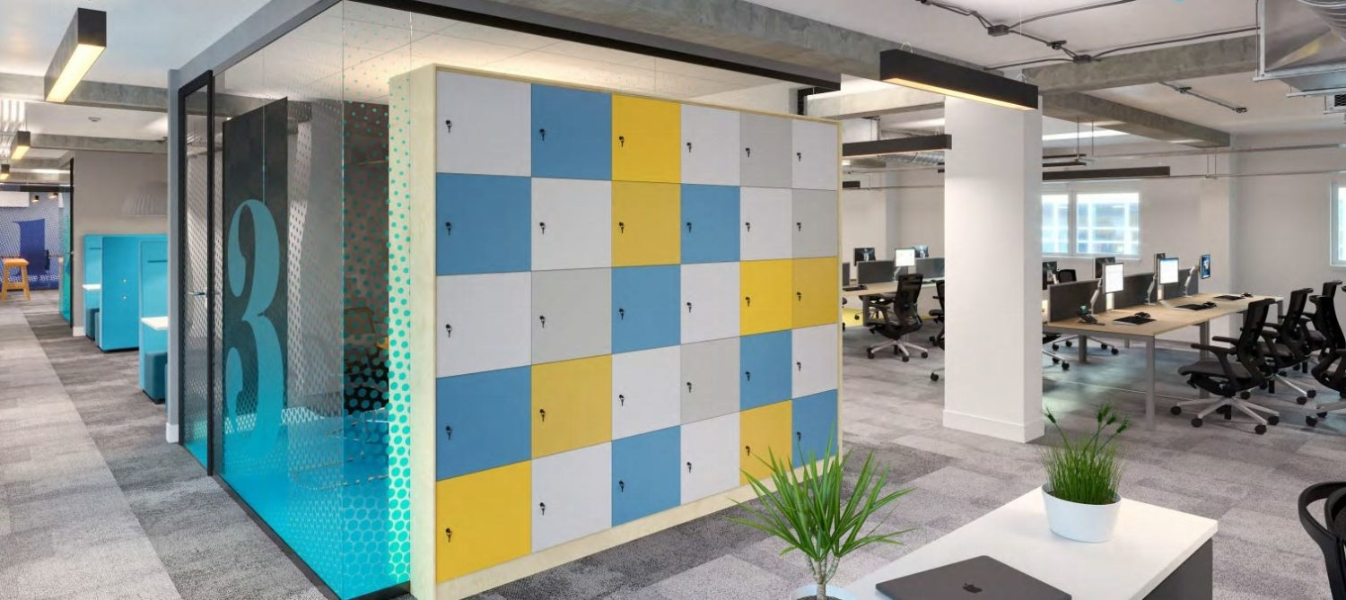 Surrey Uni lockers to support agile workspace design