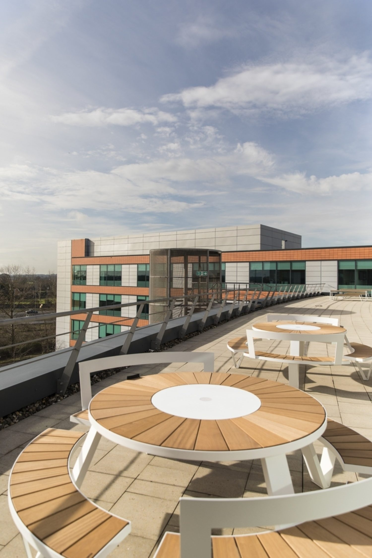 Symantec office fit out outdoor furniture