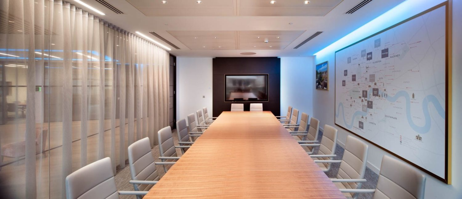 Taylor Wimpey boardroom set up