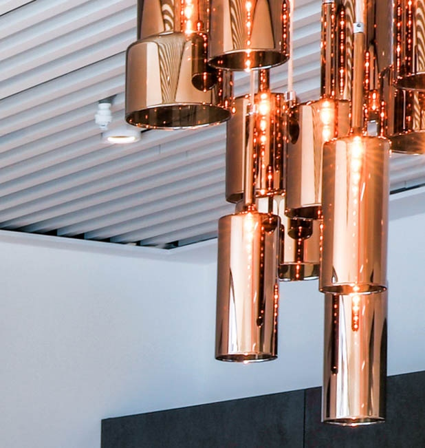 Taylor Wimpey copper light feature