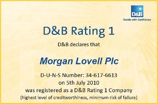Morgan Lovell D&B rating