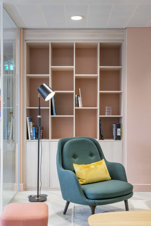 Soft furnishings in reception