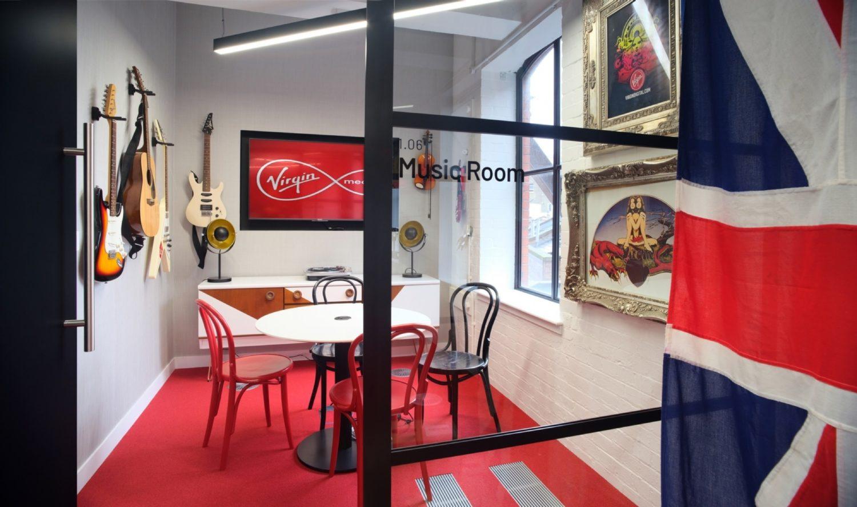 Virgin meeting room design