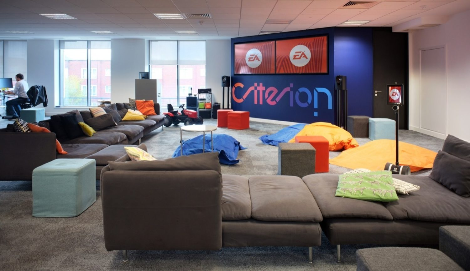 EA office breakout space fit out