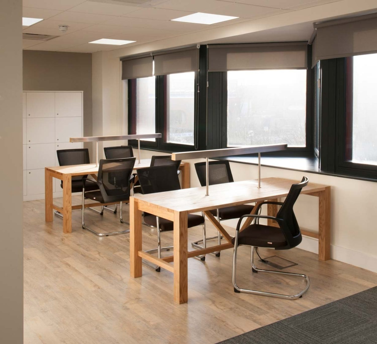 office workstations with natural light
