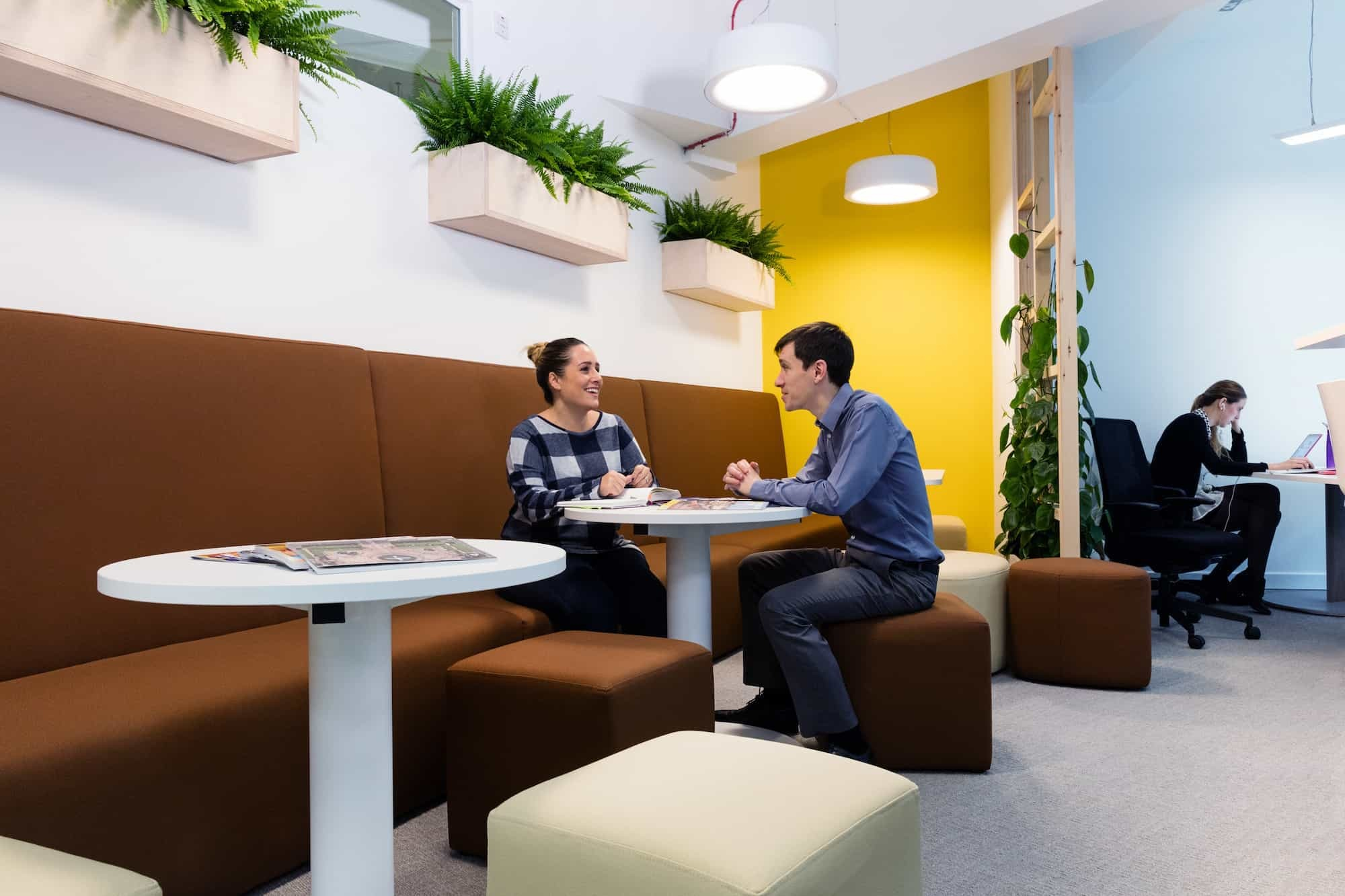 staff working in office designed for balance