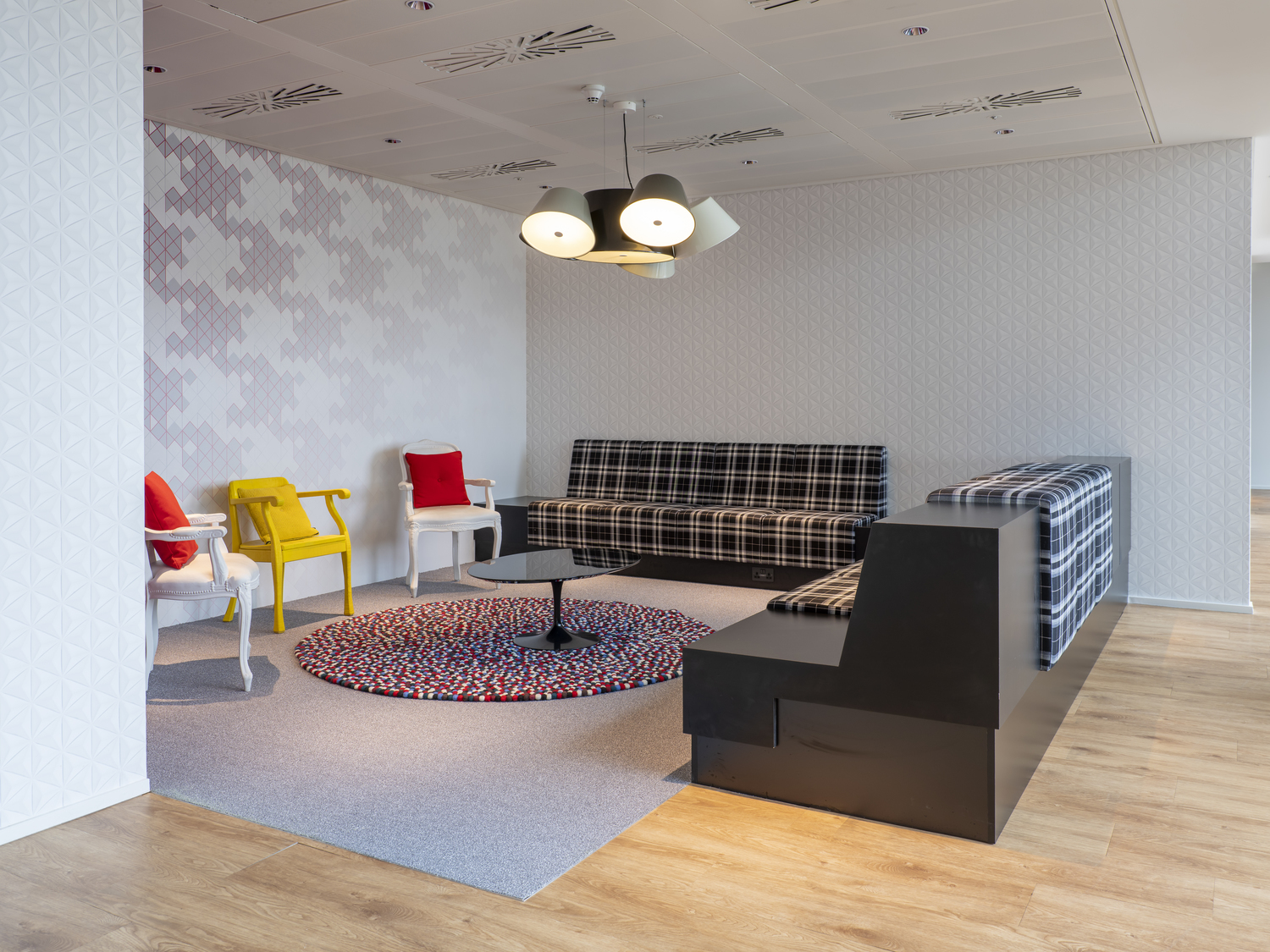 stylish design of meeting space