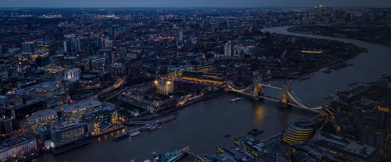 Modern London skyline